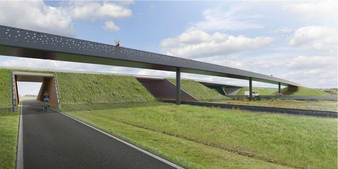 Dit wordt de fietsbrug over het Ovaal van Wippelgem.