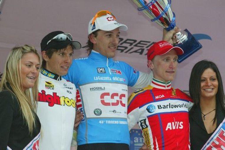 Vorig jaar won Fabian Cancellara de Tirreno. Beeld UNKNOWN