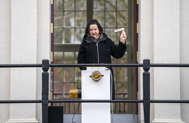 Annabelle Birnie in actie voor de Hermitage. Beeld ANP