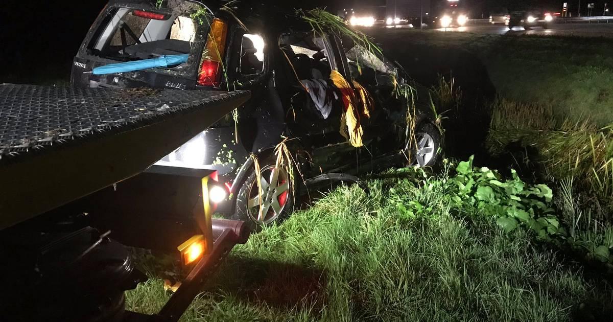 Uur vertraging op A28 na twee ongelukken.