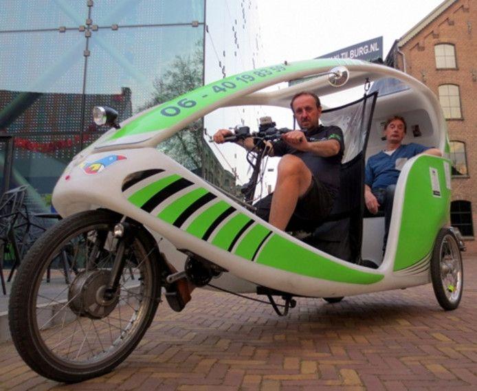De fietstaxi in Tilburg.