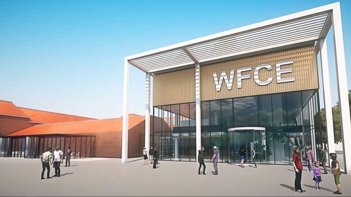 Zo moet de entree van de World Food Center Experience eruit komen te zien.