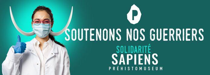 """Opération """"Solidarité Sapiens"""" du Préhistomuseum de Ramioul."""