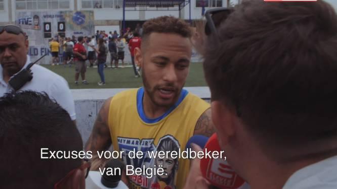 Belgische reporter duwt Neymar pijnlijke WK-nederlaag tegen Rode Duivels onder de neus. Én superster reageert ook