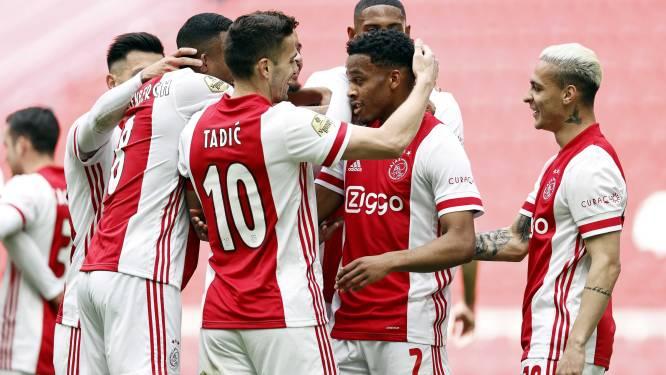 Negende dubbel is een feit: Ajax is landskampioen na zege tegen Emmen, fans bouwen feest aan ArenA