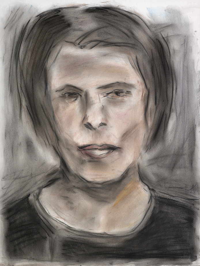 About Face. Sylvia Renard, 2012, pastel op papier 61 x 45,7 cm, The Bob and Jenny Ramsey Collection