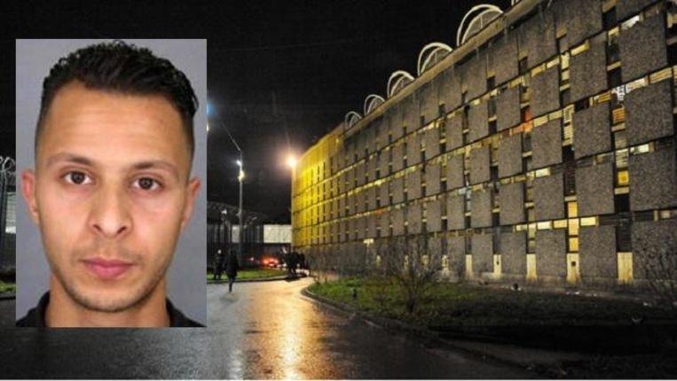Salah Abdeslam, de enige overlevende dader van de aanslagen in Parijs, zit in de gevangenis van Fleury-Mérogis. Hij weigert te antwoorden op de vragen van de speurders. Beeld epa