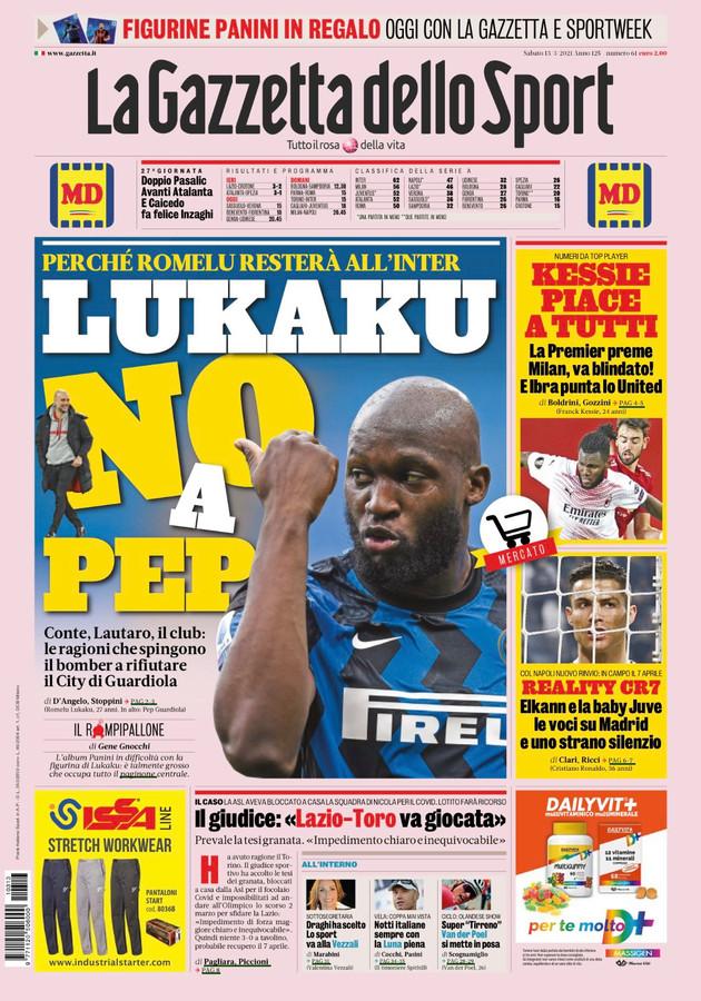 Romelu Lukaku siert geregeld de voorpagina van La Gazzetta dello Sport.