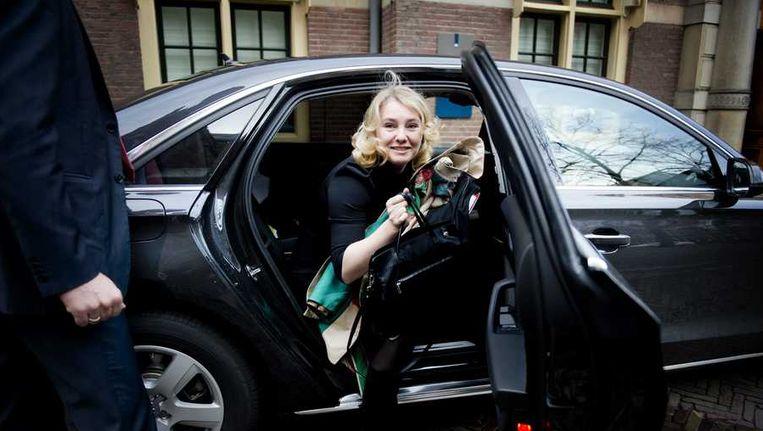 Melanie Schultz van Haegen bij aankomst Binnenhof. Beeld anp