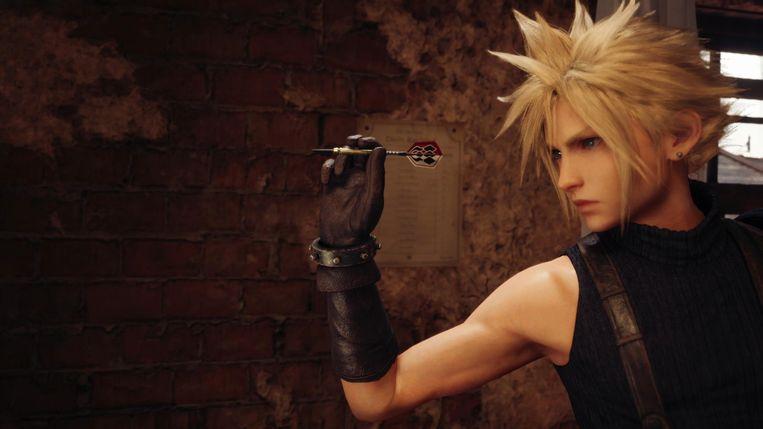 Van alle nevenactiviteiten is een potje darts in Final Fantasy VII niet eens de meest bizarre. Beeld Square Enix