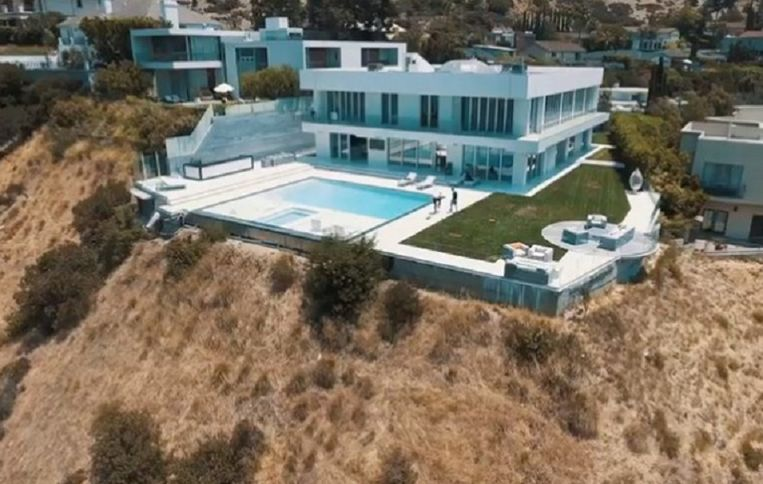 De villa in Los Angeles.