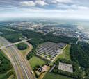 De Brainport Industries Campus bij de N2/A2 en Eindhoven Airport.