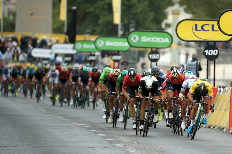 De Tour de France in 2017. Beeld Getty Images