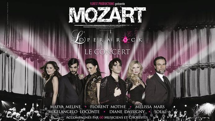 Mozart l'Opera Rock, le concert