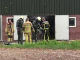 Brandweer redt kalveren uit gierkelder in Enter