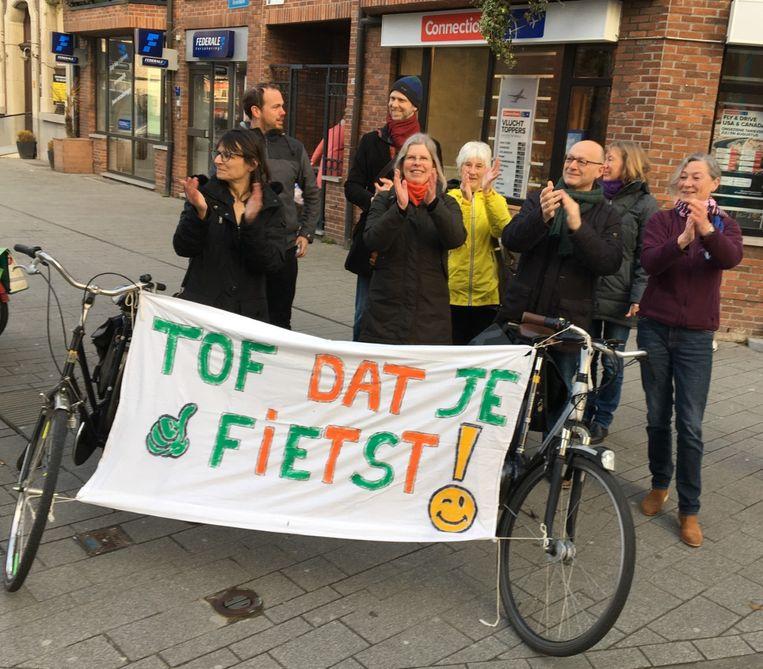 De Fietsersbond applaudisseerde voor fietsers