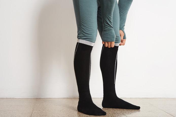 Lange thermosokken of een compleet thermotenue: het houdt je warm en onder je outfit ziet niemand er iets van.