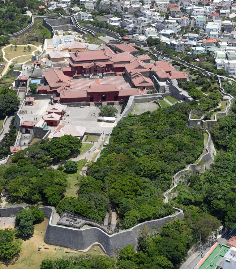 Het Shuri-kasteel en domein in mei 2017.