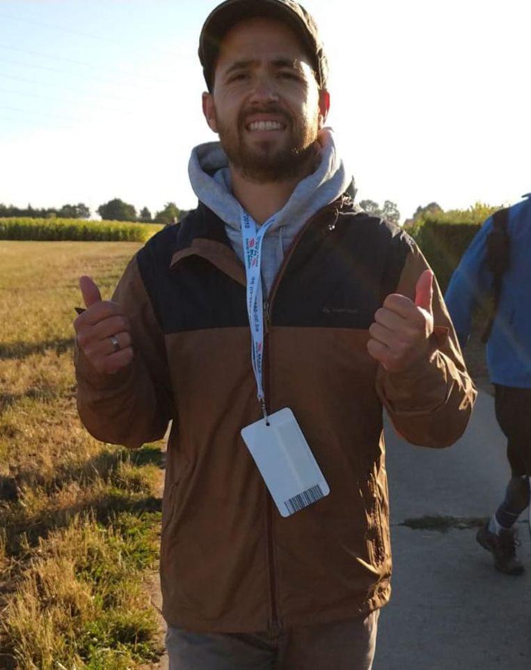 Tim Van Goethem moest zijn Dodentocht staken na 53 km.