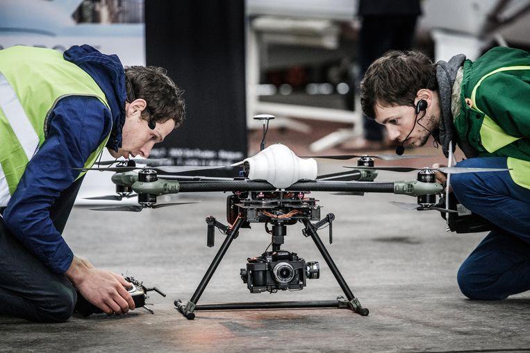 In Sint-Truiden brengt Idronect alles samen wat met drones te maken heeft. Beeld Bob Van Mol