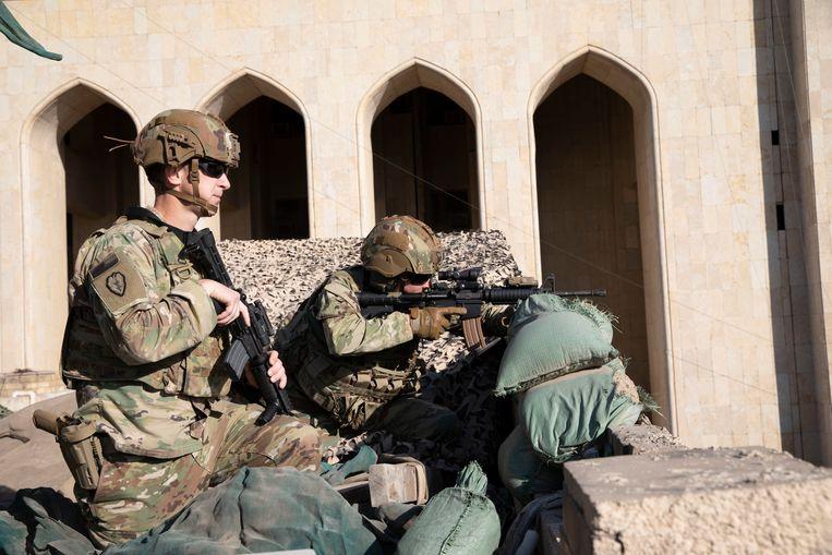 Amerikaanse soldaten in Bagdad eind vorig jaar. Beeld Photo News