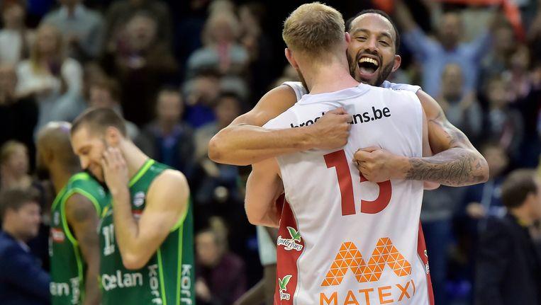 Limburg United won eerder op de dag van Oostende. Beeld Photo News