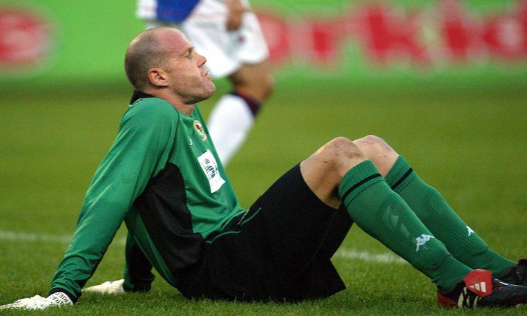 Brad Friedel in het shirt van Blackburn Rovers.