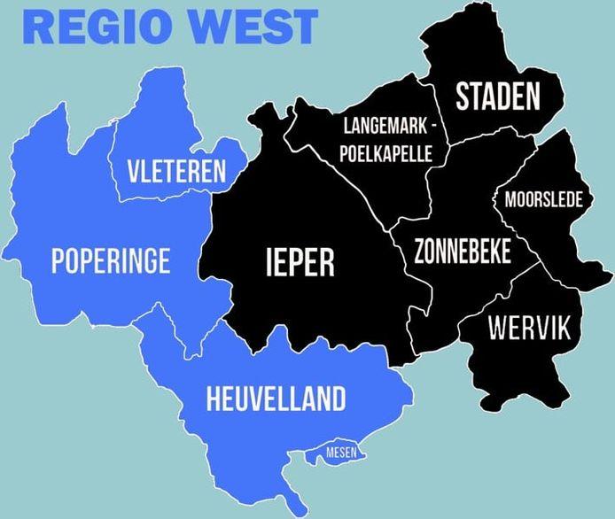 De politiezone Arro Ieper, een bijzonder uitgestrekt gebied met tien steden en gemeenten, wordt voortaan opgedeeld in drie regio's. West, met Poperinge als regiocommissariaat, is er daar één van. Daarnaast is er ook Ieper (regio Centrum) en ten slotte ook regio Oost, waar Wervik het regiocommissariaat huisvest.