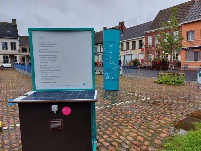 Ook Kunstenfestival Watou 2021 op het Watouplein