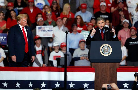 Sean Hannity sprak openlijk zijn steun uit voor de president.
