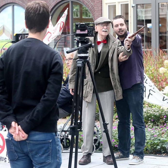 Opnames voor de film Droomoord in het centrum van Gorssel.