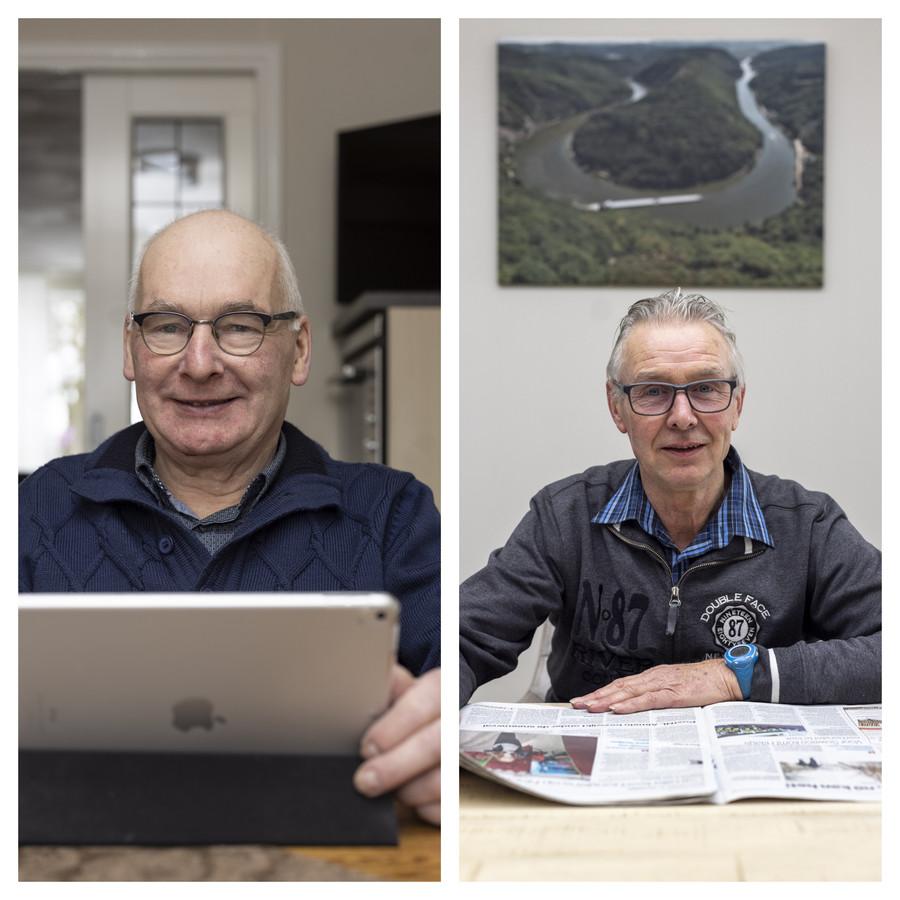 Links: Henk van den Noort (64) uit Rijssen. Rechts: Jan Langenhof (64) uit Wierden.
