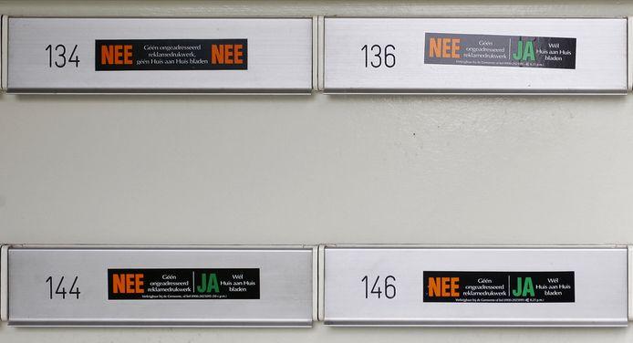 Nee-Nee- en Nee-Ja-stickers