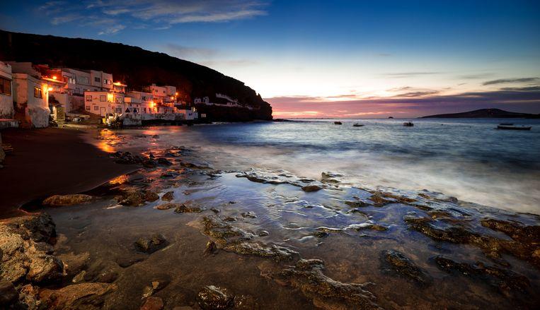 Zonsopgang bij Tufia, een klein kustdorpje in Gran Canaria.