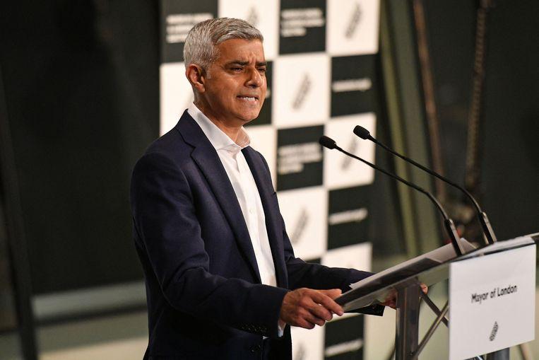 De Londense burgemeester Sadiq Khan  Beeld AFP