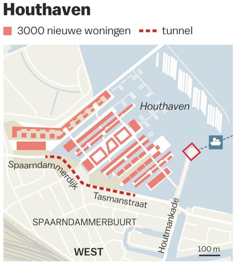 De nieuwe tunnel in Houthaven Beeld Jorris Verboon