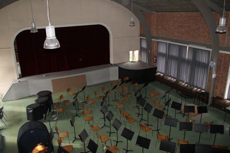 Het repetitielokaal van Koninklijke Harmonie Kunst Veredelt in de Cultuurfabriek.