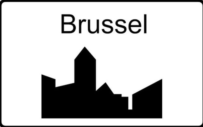 De aanduiding van bebouwde kom in Brussel
