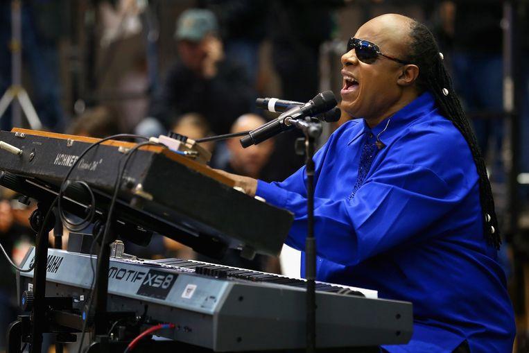 In Soul Genius is niet enkel aandacht voor de muzikale talenten van Stevie Wonder, maar ook zijn invloed als politiek activist Beeld afp