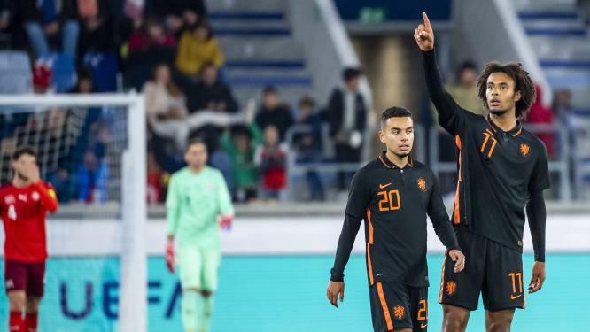Zirkzee behoedt Jong Oranje met twee goals voor nederlaag in Zwitserland