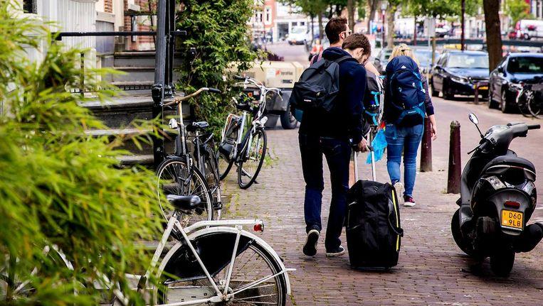 De binnenstad van Amsterdam is aantrekkelijk voor toeristisch verhuur. Beeld anp