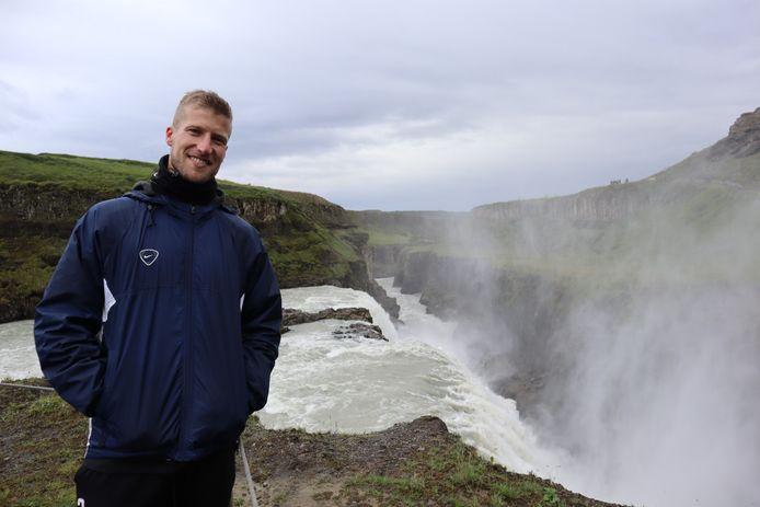 Voetballer Wout Droste uit Oldenzaal handhaafde zich met zijn IJslandse ploeg op het hoogste niveau.