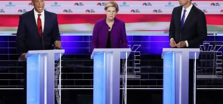 Rommelig tv-debat Democraten is startsein Amerikaanse presidentsverkiezingen