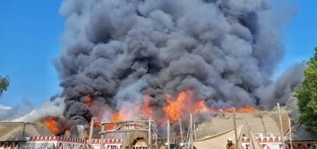Hoofdgebouw Beekse Bergen gaat in vlammen op: 'Dieren safaripark lopen geen gevaar'