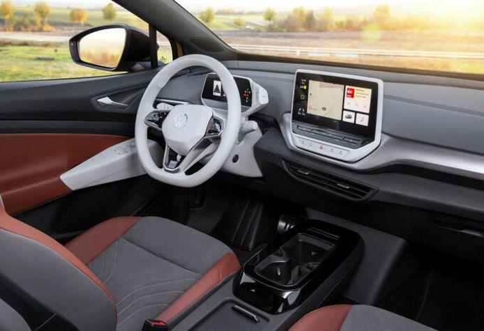 Het interieur van de geteste Volkswagen ID4.