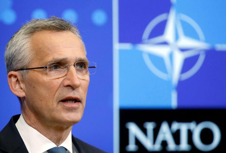 Navo-leider Jens Stoltenberg is één van de ontvangers van de brief, waarin organisaties de Navo tot spoed manen Afghaanse tolken uit hun land weg te halen die voor westerse troepen hebben gewerkt.  Beeld EPA