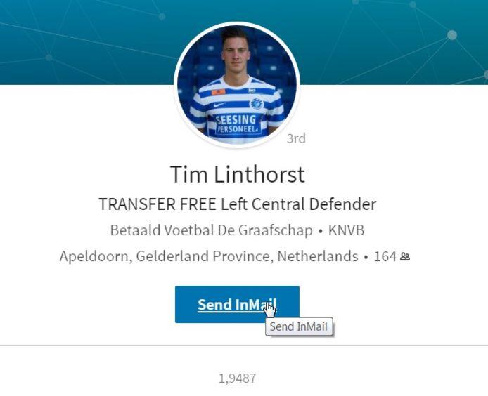 Tim Linthorst op LinkedIn.
