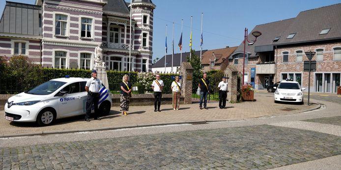 Ook in Kampenhout werd een minuut stilte gehouden.