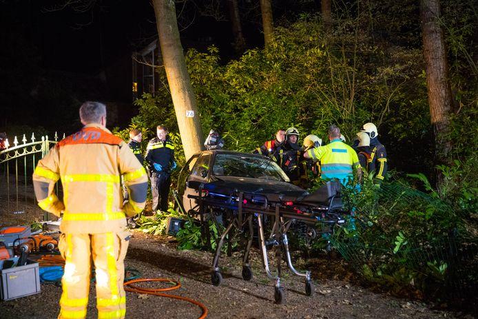 Bij het ongeval in Hulshorst raakten twee mensen gewond.