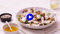 Healthy lunch in drie minuten? Deze superfoodsalade met geitenkaas is klaar in een wip